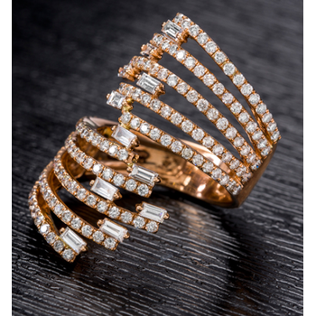 Stack Gold Diamond ring