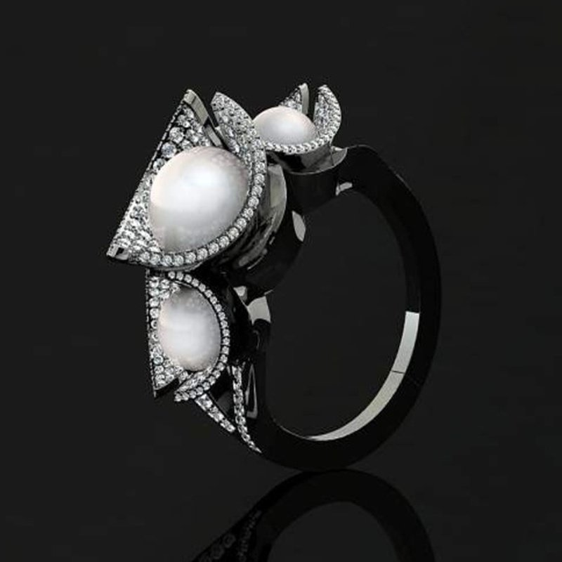 Antony Jewelers Pearl Shell style fashion ring