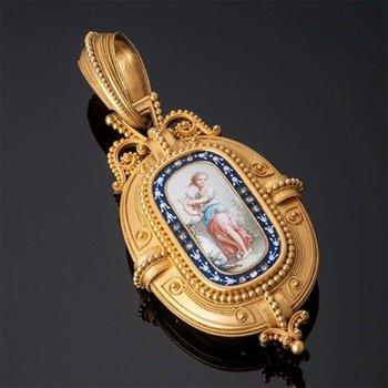 Unique antique icon pendant