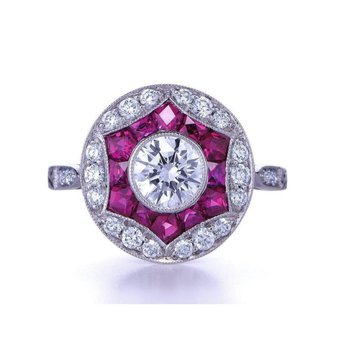 Beautifully designed pink diamond fashion ring