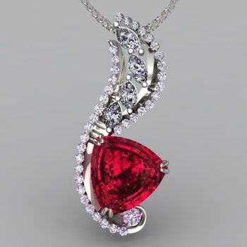Pendant with Pigeon blood ruby
