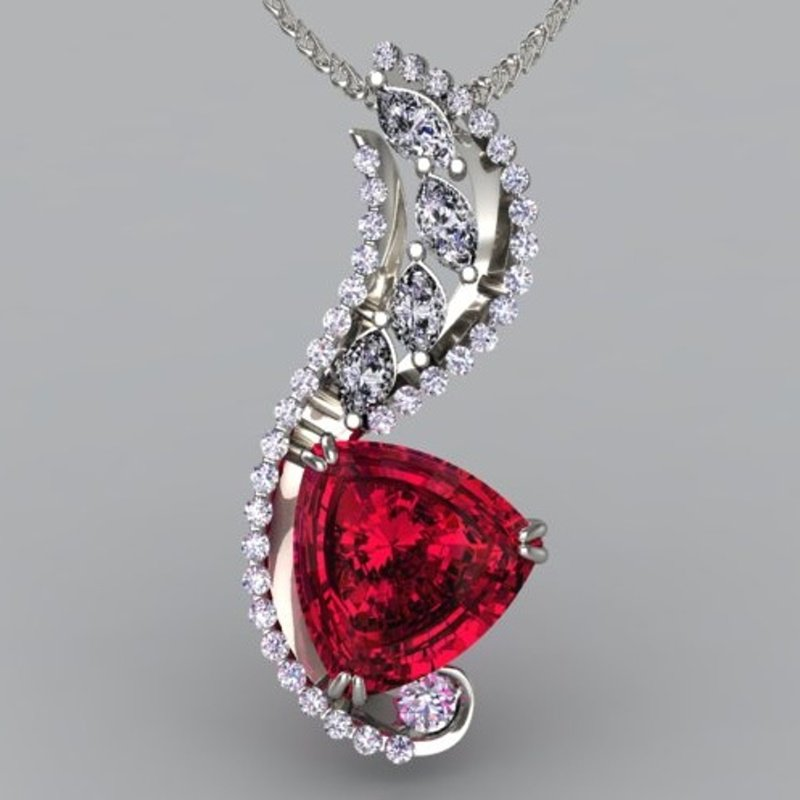 Antony Jewelers Pendant with Pigeon blood ruby