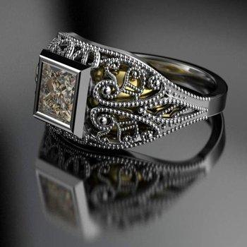Decorative engagement ring