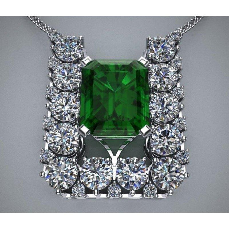 Antony Jewelers Square style emerald necklace