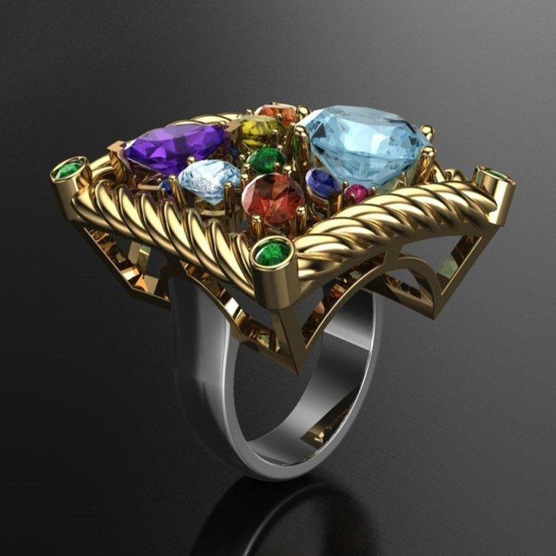 Antony Jewelers Multicolor stones fashion band