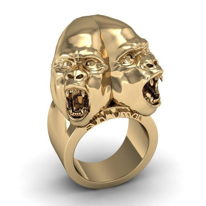 Antony Jewelers Golden 3-D Gorilla ring