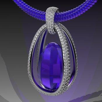 Fine quality amethyst pendant
