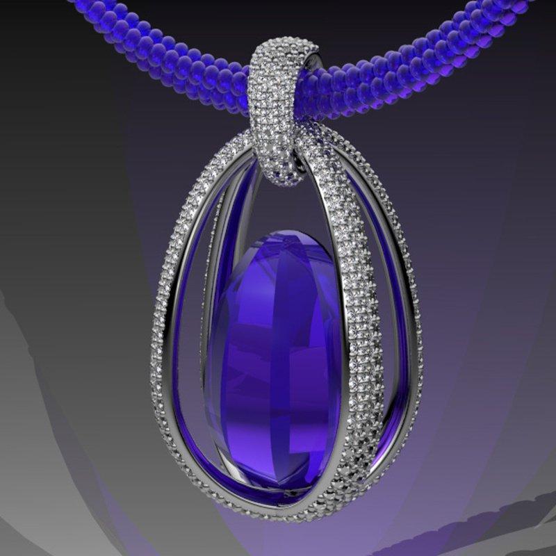Antony Jewelers Fine quality amethyst pendant