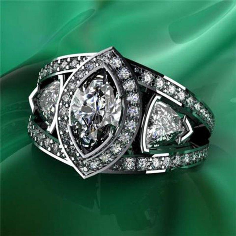 Antony Jewelers Marquise diamond engagement ring
