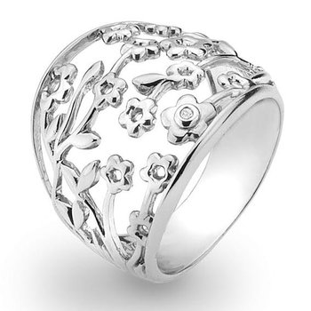 Floral fashion ring