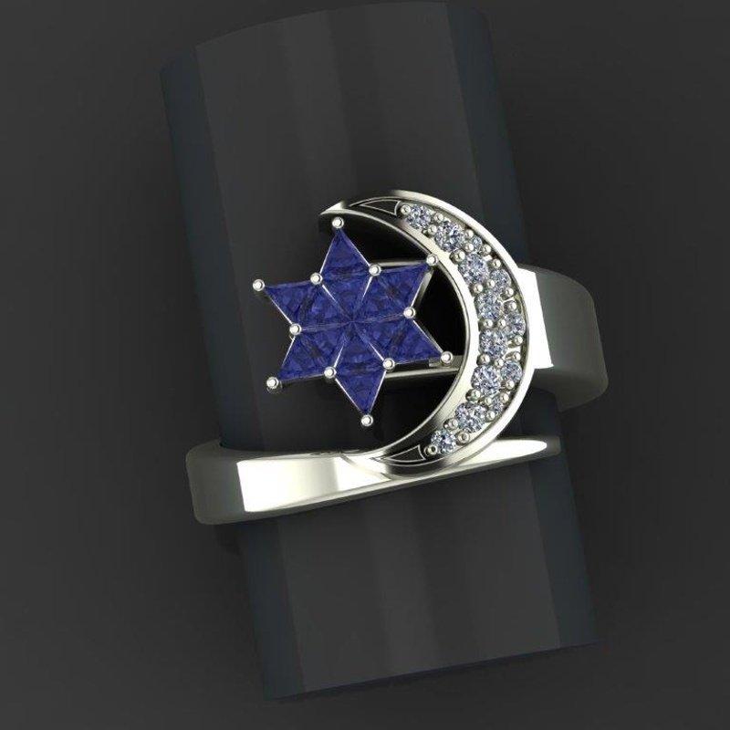 """Sapphire Star"" fashion ring"
