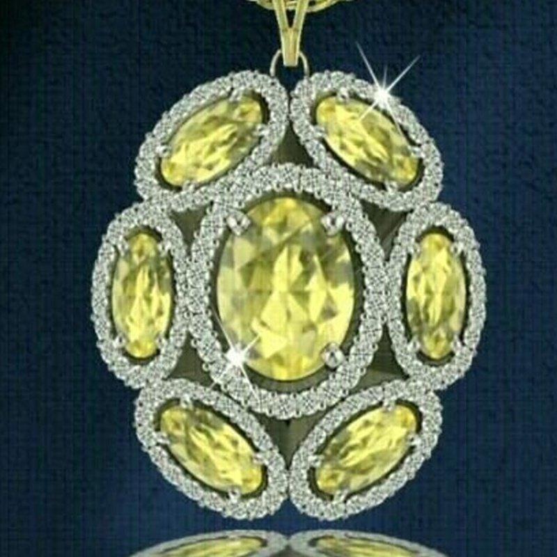 Antony Jewelers Yellow diamond pendant