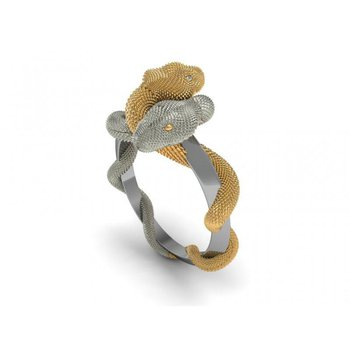 Gold snakes fashion ring