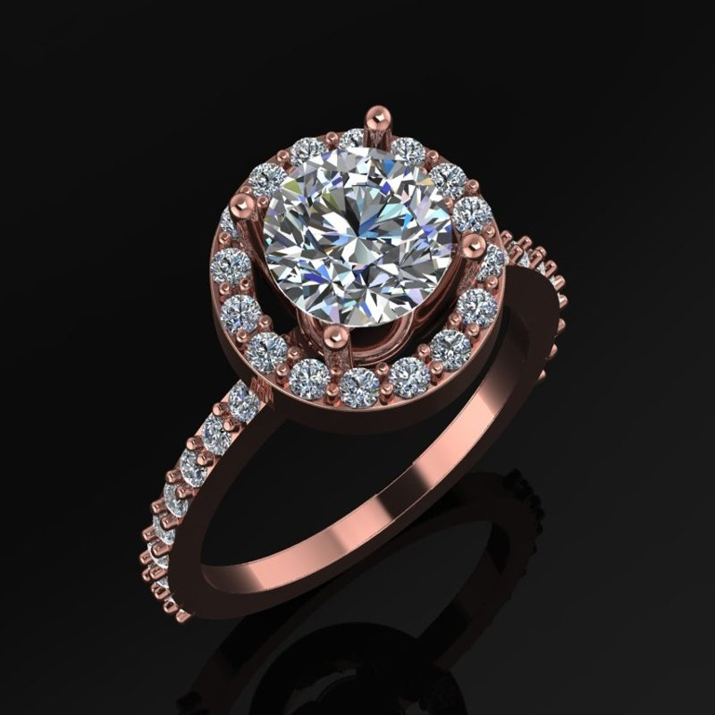 Antony Jewelers  Illusion set diamond engagement ring
