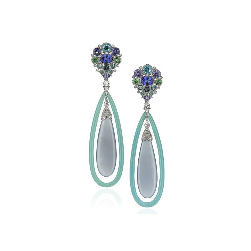Antony Jewelers Diamond and sapphire earrings