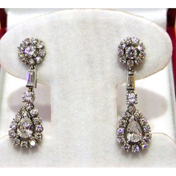 Finest quality diamond earrings