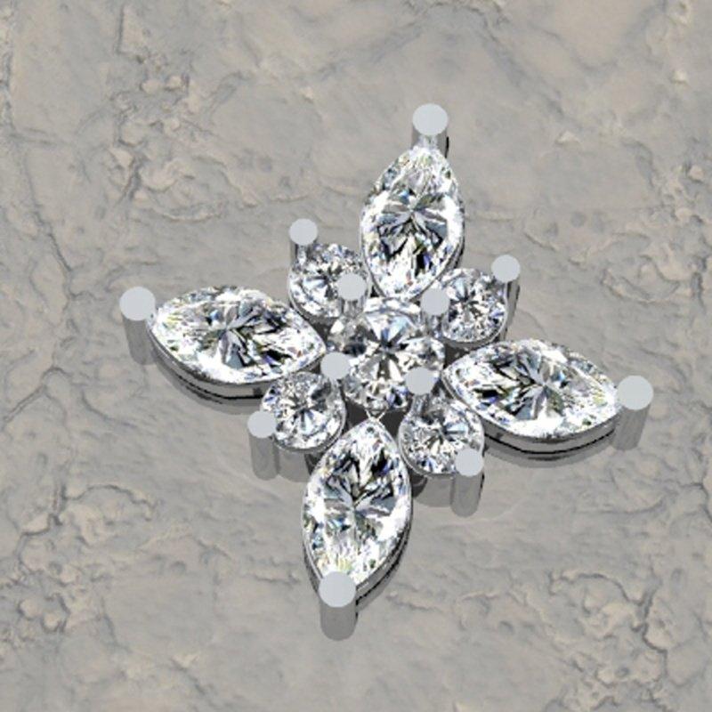 Antony Jewelers Antique diamond pendant