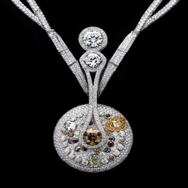 Diamond masterpiece necklace