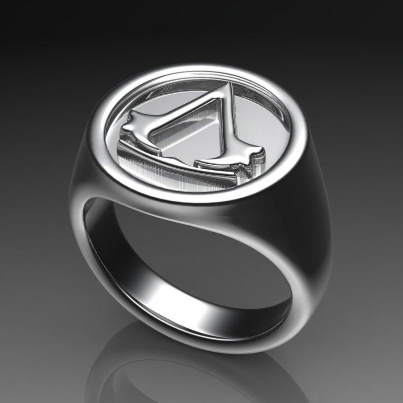 Antony Jewelers Silver symbolic men's ring