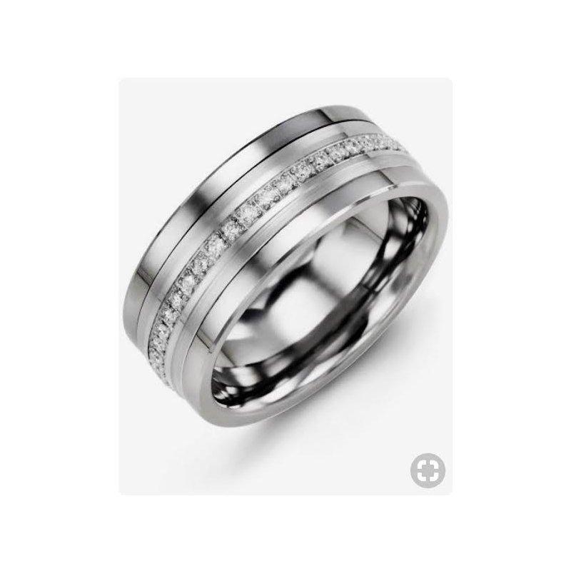 Antony Jewelers Mens diamond wedding band