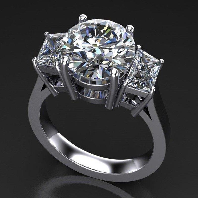 Antony Jewelers 3 stone engagement ring