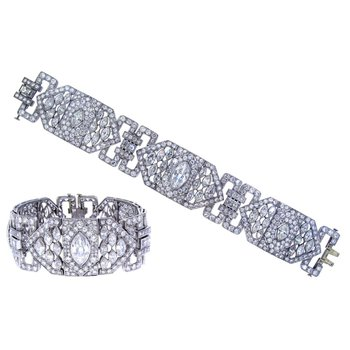 Antique style diamond bracelet