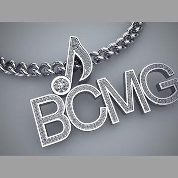 BCMG logo  diamond pendant