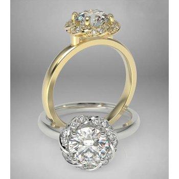 """""""Flower child"""" engagement rings"""