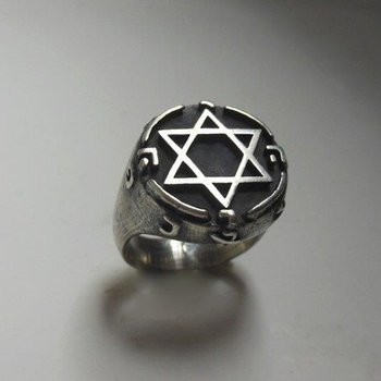 "Antique style ""Star of David"" gold ring"