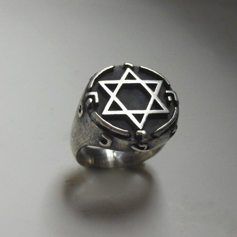 """Antony Jewelers Antique style """"Star of David"""" gold ring"""