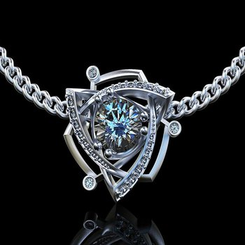 Fashion geomerical necklace with diamond