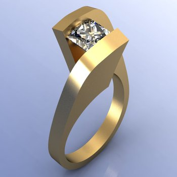 Casual diamond ring