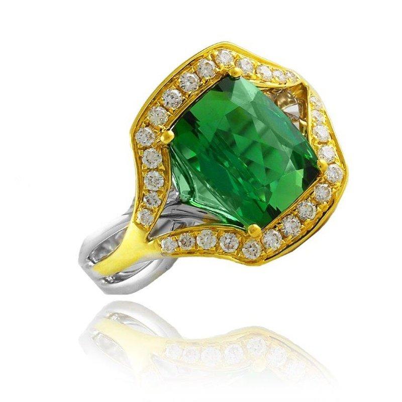 Antony Jewelers Two tone fashion ring with fine quality tanzanites