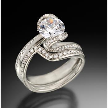 Stylish diamond engagement ring