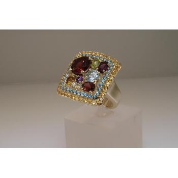 Colorful fashion ring