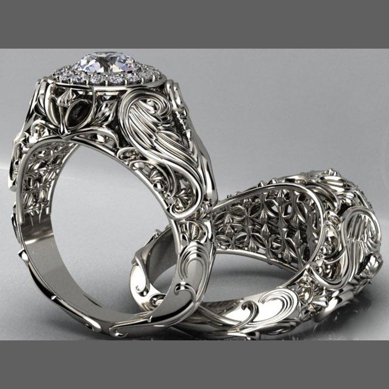 Antony Jewelers Engagement ring with  1 carat round diamond