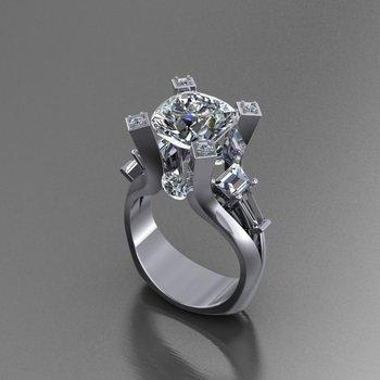 Uniquely designed engagement ring