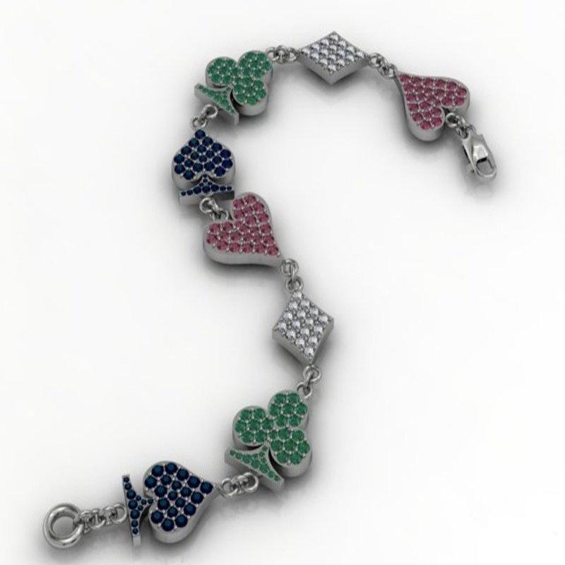 Antony Jewelers Playing Colorful Symbols Bracelet