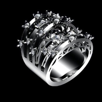 Diamond multi overlapping band