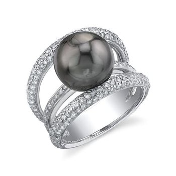 Black Pearl diamond ring