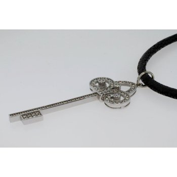 Key pendant with diamonds