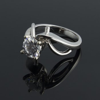 Swirl engagement ring