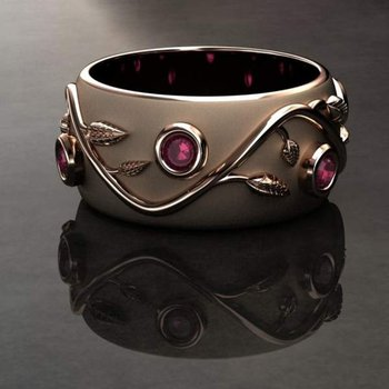 Yellow gold ruby band