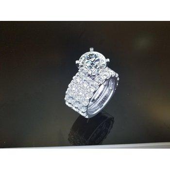 3 Band Diamond ring