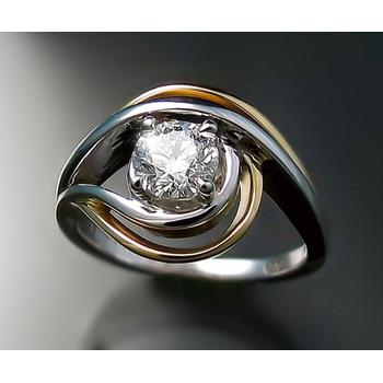 Two-tone swirl ring