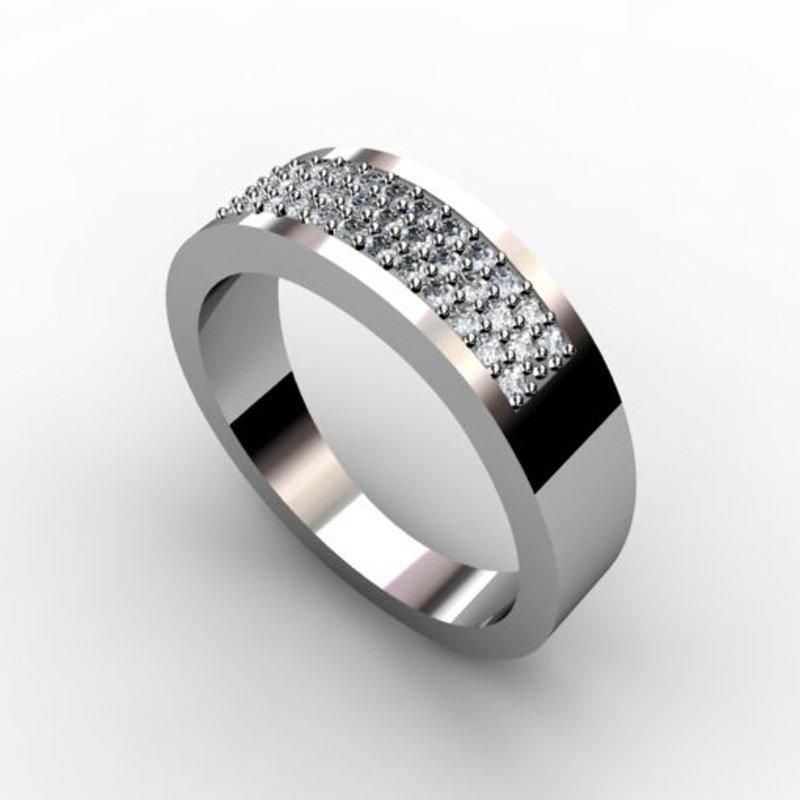 Antony Jewelers Pave set diamond band