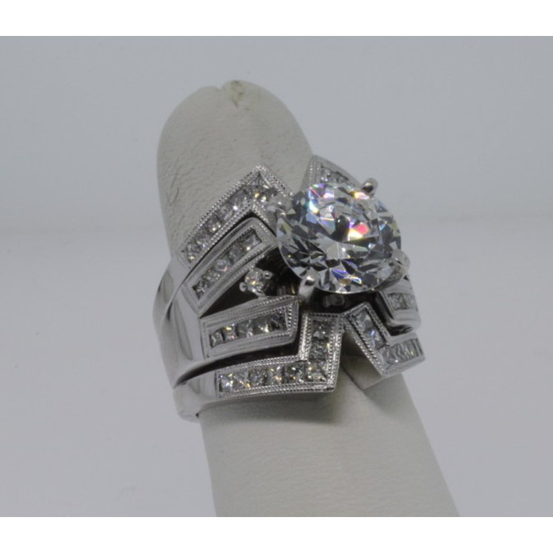 Antony Jewelers Vintage style engagement ring