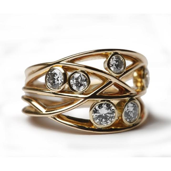 Gold Modern fashion ring