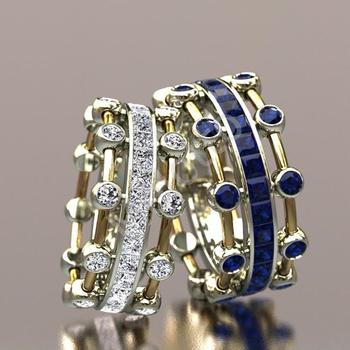 Fashion-forward sapphires and diamonds wedding band