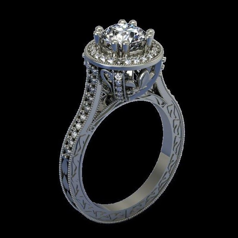 Antony Jewelers  Antique style engagement ring